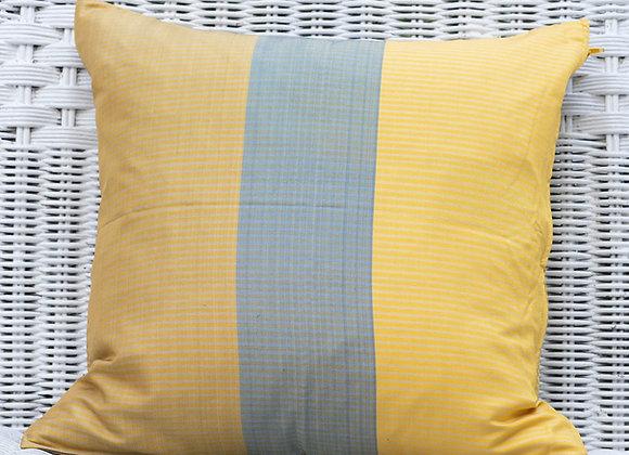 Cambodian Silk Pillow Cover 'Blocks' | Chedi Gold