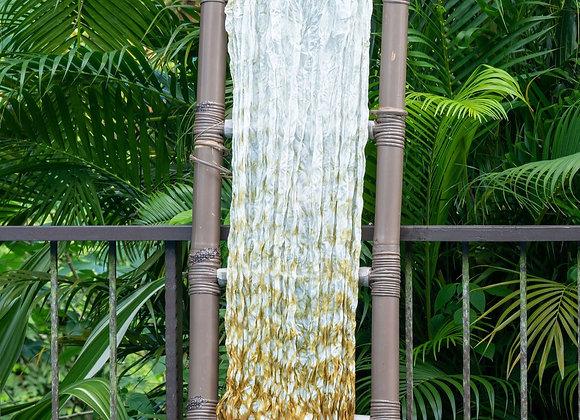 Silk Shibori Scarf 'Water Drops' | Ocher