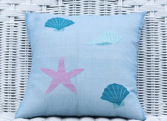 Silk Organza Pillow Cover'StarFish' | Blue Ragoon