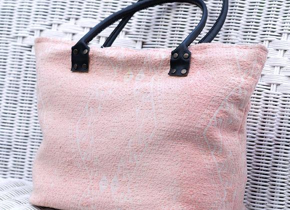 Carry-All Village Bag 'Tai Lue' | Peony Pink