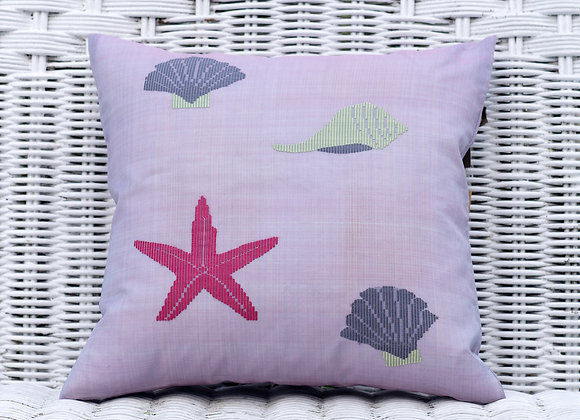 Silk Organza Pillow Cover 'Starfish' | Rose Water