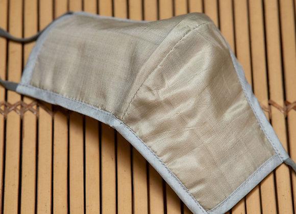 Silk Mask Plain | Silver Taupe