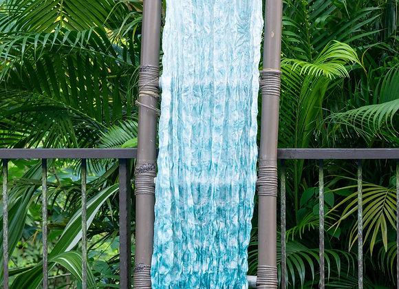 Silk Shibori Scarf 'Water Drops' | Island