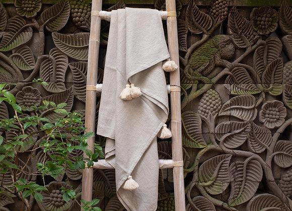 Cotton Blanket | 'Village' Silver