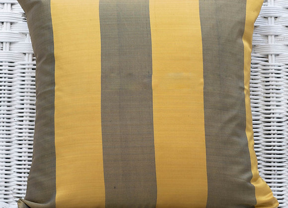 Cambodian Silk Pillow Cover 'Stripes' | Indigo Moon