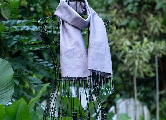Rough Silk Scarf 'Hook' | Lavender