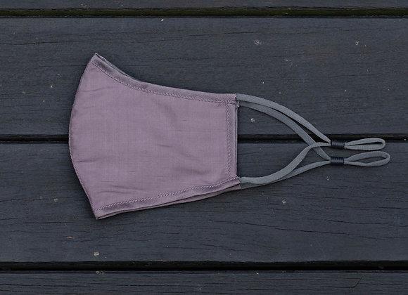 Silk Mask 'Plain' | Elderberry
