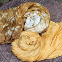 Silk Organza Scarves in Shibori $ Solid