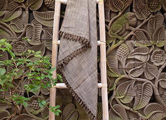 Cotton Blanket | 'Ikat' Grey Brown