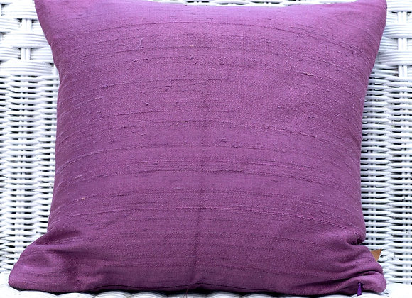 Rough Silk Pillow Cover 'Plain'   Grape