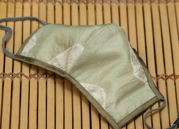 Silk Mask 'Star' | Moss Grey