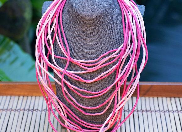 Silk String Necklace |  Flora