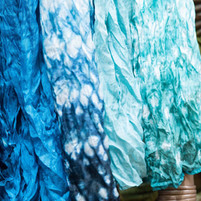 Beautiful shibori scarves