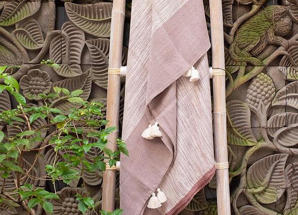 Cotton Blanket | 'Lotus' Plum