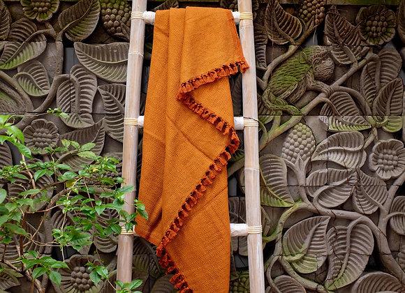Cotton Blanket | 'Plant' Dusty Orange