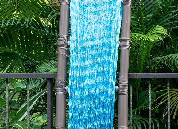 Silk Shibori Scarf 'Water Drops' |  Azur
