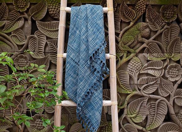 Cotton Blanket | 'Ikat' Indigo