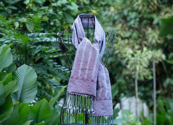 Silk Ikat Scarf 'zigzag' | Desert Rose