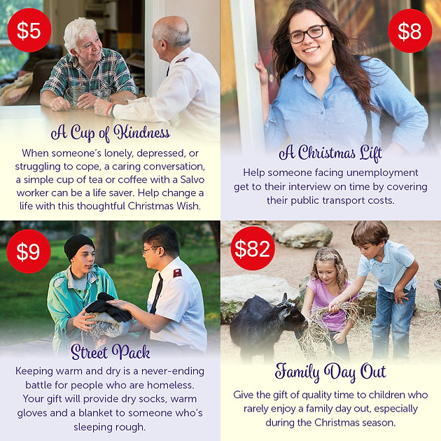 The Christmas Wish.Salvos Christmas Wishes Making Christmas Wishes Come True