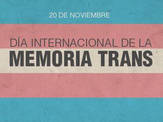 Manifiesto 2017 Día Memoria Trans