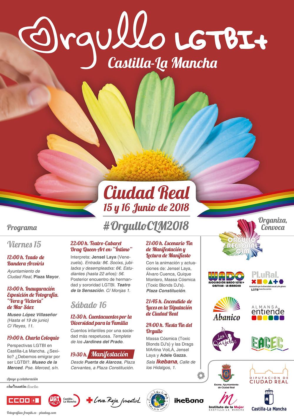 Cartel Orgullo Regional LGTBI de Castilla La Mancha 2018