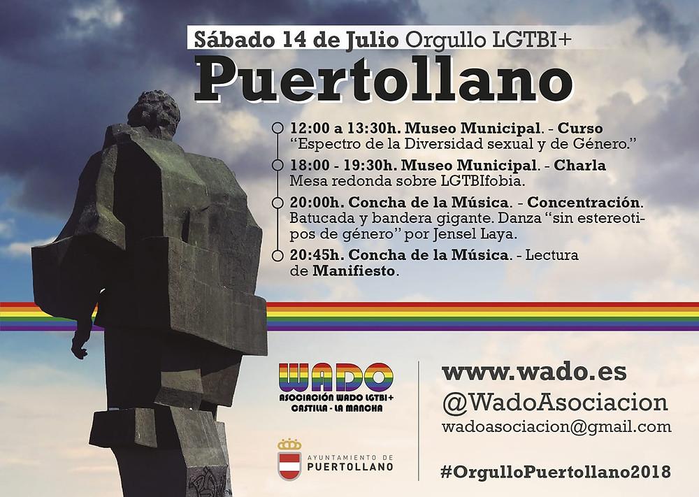 Cartel Orgullo Puertollano LGTBI 2018