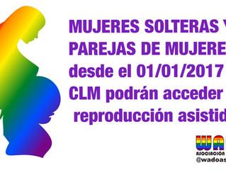 Reproducción asistida para TODAS las mujeres en Castilla-La Mancha desde Enero 2017