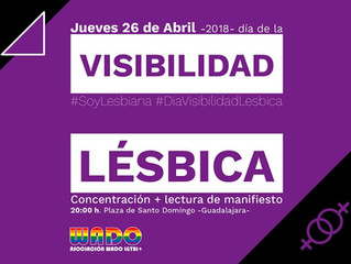 DÍA DE LA VISIBILIDAD LÉSBICA Guadalajara 2018