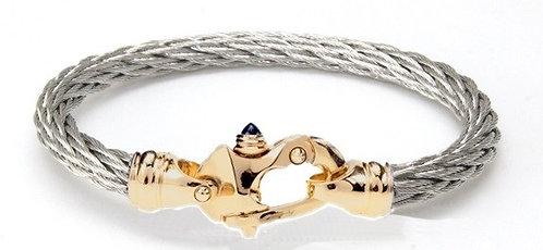 Nouveau Braid® Cable Bracelet with 14K Yellow Gold Mariner's Clasp®