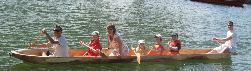 Balade en pirogue - Fête eau-lac