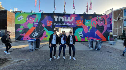TNW Conference in Amstardam May 2019. From left: Tero Seppala, Juha Uotila and Jere Seppala