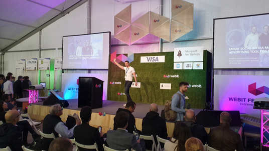 Webit Festival in Sofia, Bulgaria May 2019. On the picture CEO and Co-Founder of Hookle Inc, Tero Seppala