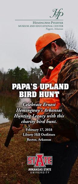 Papas Upland Bird Hunt and Dinner