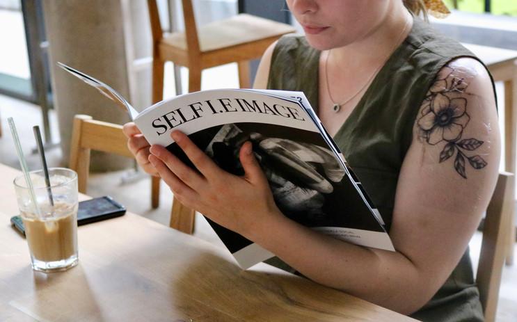 SELF I.E IMAGE MAGAZINE in the cafe