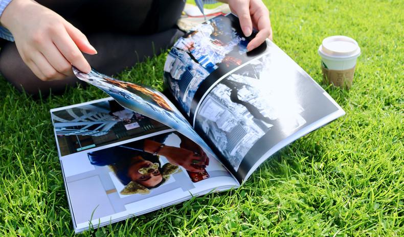SELF I.E IMAGE MAGAZINE in the park