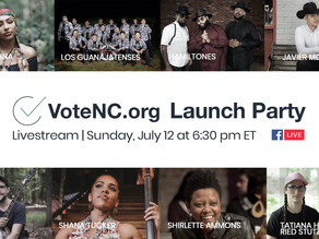 Announcing the VoteNC.org Launch Party Line Up