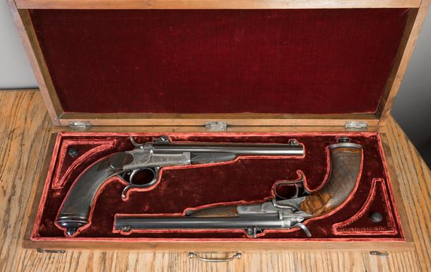 Coffret pour paire de pistolets