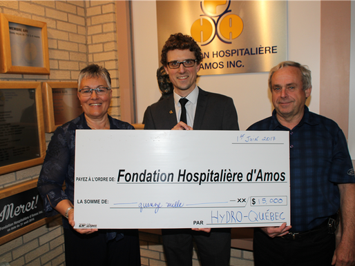 Hydro-Québec investi en santé à Amos