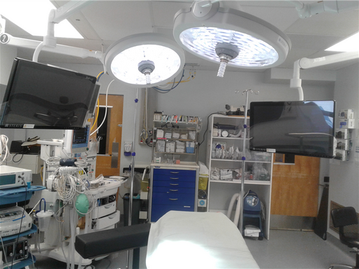 Amélioration de l'ergonomie d'une des salles de chirurgie à l'hôpital d'Amos en y injectant 64 000$