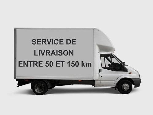 SERVICE DE LIVRAISON 50 KM ET +