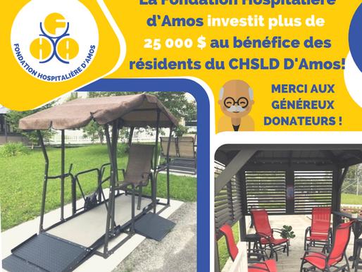 La Fondation investit au CHSLD pour améliorer la qualité de vie de ses résidents