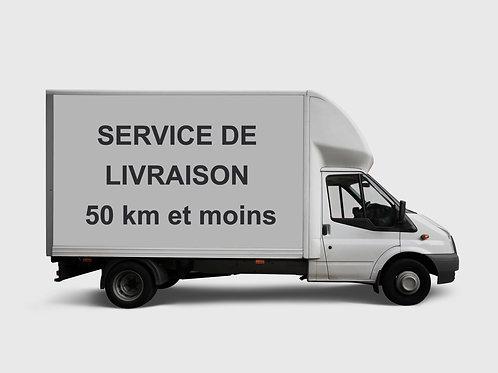 SERVICE DE LIVRAISON 50 KM