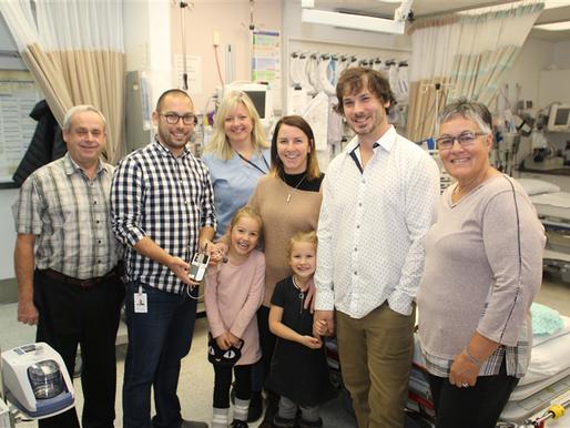 La famille Carignan Lachance fait don d'équipements médicaux