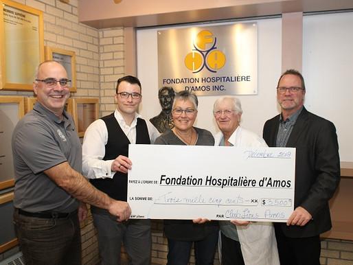 Le Club Lions d'Amos investi 3 500 $ pour l'amélioration des soins de la vue.