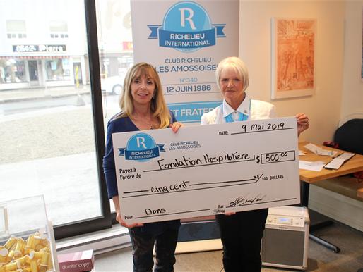 Le Club Richelieu Les Amossoises remet son don à la Fondation Hospitalière d'Amos