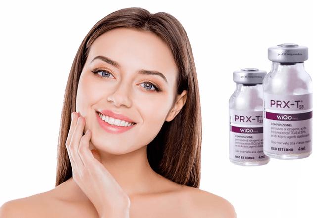 Flacons de Prx t 33, une gamme soins visage et corps innovants chez Privilège Esthétique, Institut de beauté Montreux