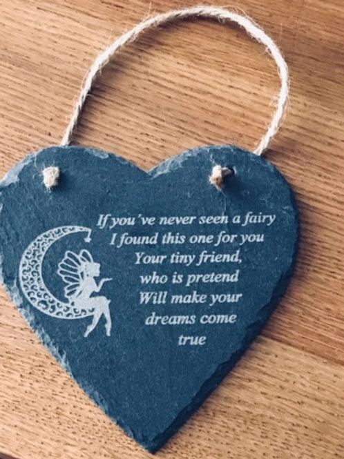 Fairy Slate Heart