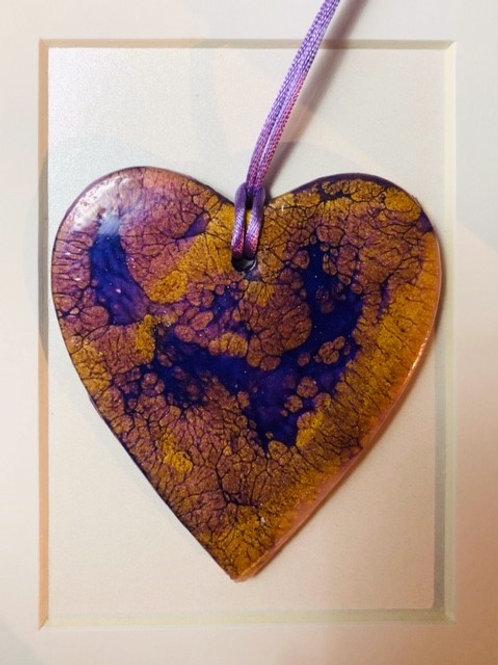 Gold & Purple Heart