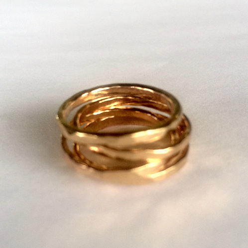 Stackable Hammered Rings