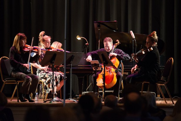Shostakovich Piano Quintet with Steven Honigberg on cello and Carol Honigberg on piano 11/04/18